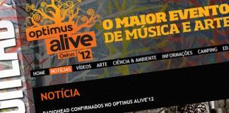 Screenshot der Festival-Webseite