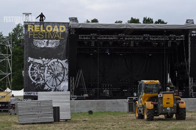 Reload Festival im Aufbau, Foto: Thomas Peter