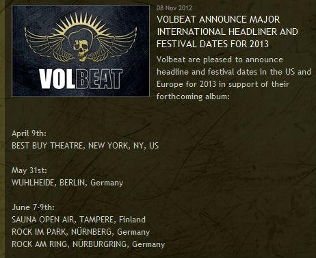 Volbeat Selbstbestätigung Für Rock Am Ring Und Rock Im Park