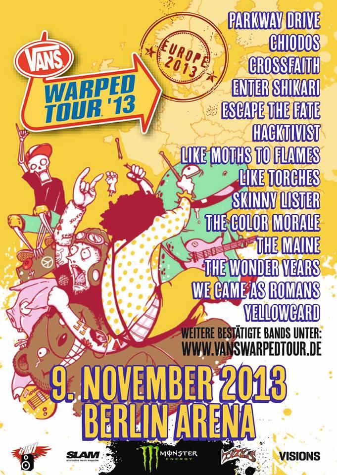 Vans Warped Tour Europe  Lineup