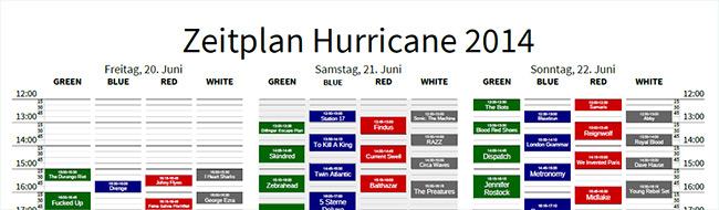 Unser Hurricane 2014 Faltplan hilft bei den Planungen