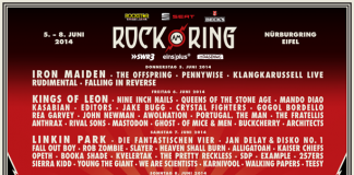 Rock am Ring 2014 - Tagesverteilung der Bands