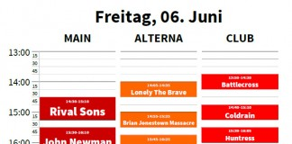 Rock am Ring Faltplan 2014