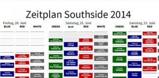 Unser Faltplan zum Southside 2014- in Farbe und bunt!