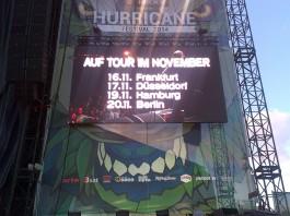 Rise Against Tour 2014 - am Hurricane wurde sie beworben, Quelle: Alex/Festivalistenforum