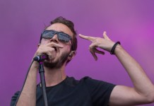 Tom Smith von Editors bei Rock im Park 2014, Foto: Thomas Peter