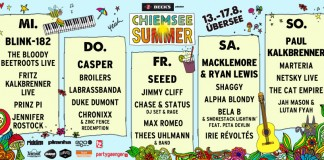 Chiemsee Summer 2014 - Vorläufige Tagesverteilung, Quelle: FKP Scorpio/Chiemsee Summer