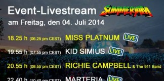 Summerjam Livestreaming vom 04. Juli 2014, Quelle: Festival