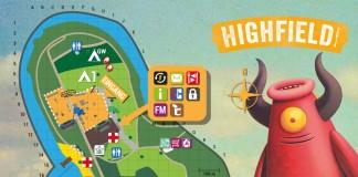 Highfield Geländeplan 2014: Einiges ist anders als noch im letzten Jahr, Bild: FKP Scorpio (bearbeitet)