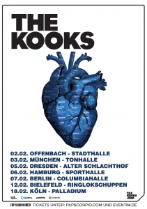 The Kooks Tour 2015 ; Quelle: facebook.com/TheKooksOfficial