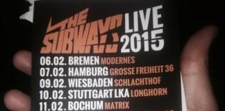 Auch nächstes Jahr bei uns unterwegs - ein Flyer verrät die Daten der The Suways Tour 2015, Quelle: Facebook/Jakob Heimzmann auf unserer Fanpage