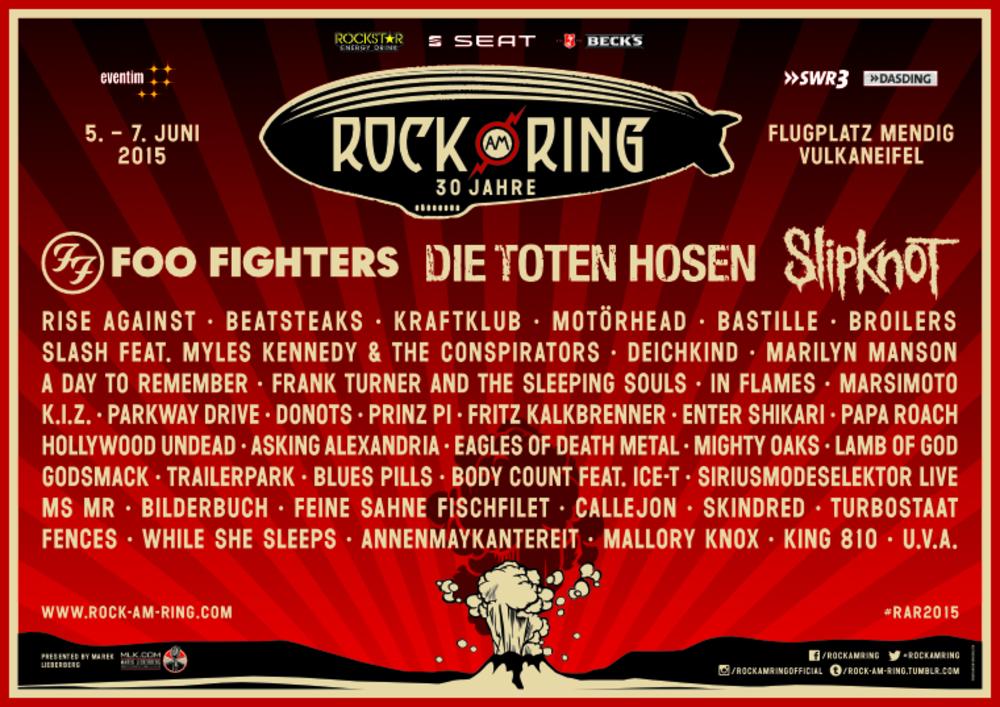Rock Am Ring 2015 Bisher Knapp 400000 Euro Verlust Angehäuft