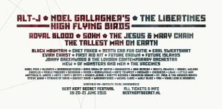 Erste Welle des Best Kept Secret Festivals 2015; Quelle: facebook.com/BKSfestival