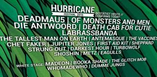 Zweite Bandwelle von Hurricane und Southside 2015, Quelle: facebook.com/hurricanefestival