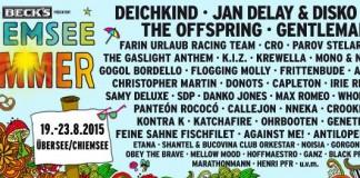 Chiemsee Summer 2015 im Überblick - Stand: 10.02.2015; Bildquelle: Festival