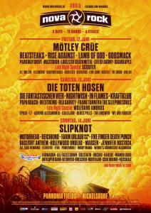 Nova Rock 2015 Lineup, Stand 24.02., Bildquelle: Festival