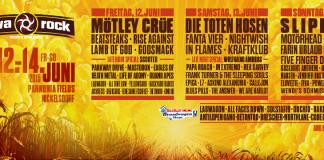 Nova Rock 2015 Lineup nach Tagen sortiert, Stand: 24.02.2015; Bildquelle: Festival