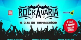 Rockavaria 2015 . Die Tagesverteilung, Stand 20.02.; Bildquelle: DEAG/Rockavaria