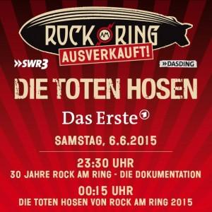 Zum 30. Geburtstag findet Rock am Ring 2015 ins ARD Hauptprogramm, Bildquelle: ARD, MLK