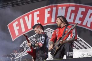 Five Finger Death Punch beim Rockavaria 2015, Foto: Thomas Peter
