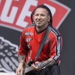 Zoltan Bathory von Five Finger Death Punch beim Rockavaria 2015, Foto: Thomas Peter