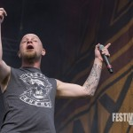 Ivan Moody von Five Finger Death Punch beim Rockavaria 2015, Foto: Thomas Peter