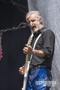 Ruben Block von Triggerfinger beim Rockavaria 2015, Foto: Thomas Peter