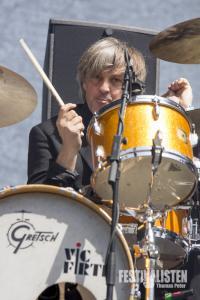 Mario Goossens von Triggerfinger beim Rockavaria 2015, Foto: Thomas Peter