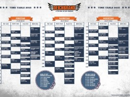 Deichbrand Zeitplan 2015, Bildquelle: Deichbrand Festival