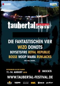 Taubertal 2016 - die ersten bestätigungen rund um Die Fantastischen Vier, WIZO und Donots, Bildquelle: Festival