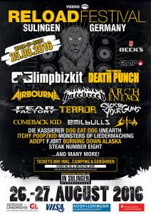 Reload Festival 2016 - mit Five Finger Death Punch wurde der zweite Headliner gefunden, Bild: Reload Festival