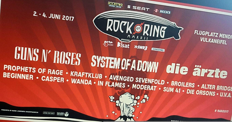 Rock Am Ring Karte.Rock Am Ring Rock Im Park Erste Bandwelle Angeteast