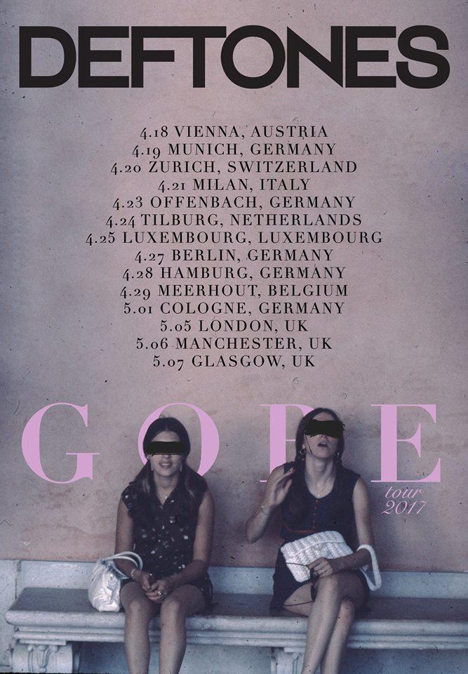 Deftones Tour 2017 führt sie auch zum Groezrock, Bild: Band