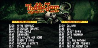 Der Ablaufzeitplan des Traffic Jam 2017, Quelle: Festival