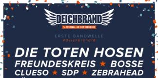 Deichbrand 2018 - Flyer der ersten Bandwelle, Quelle: Festival