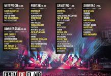 Open Flair 2018 Tagesverteilung, Quelle: Festival